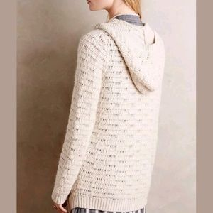 Anthropology Sleeping on Snow Hooded Cardigan